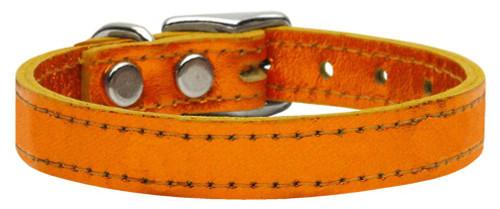 Plain Metallic Leather Metallic Orange 22