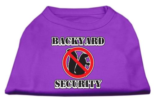 Backyard Security Screen Print Shirts Purple Xxxl(20) - 51-03 XXXLPR