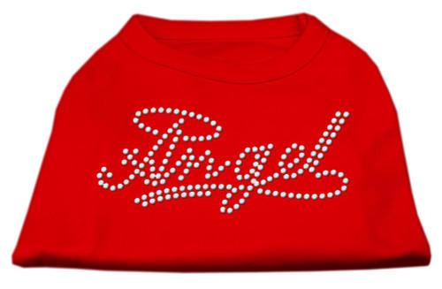 Angel Rhinestud Shirt Red M (12)