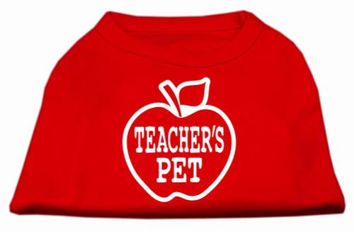 Teachers Pet Screen Print Shirt Red Xs (8)