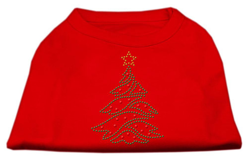 Christmas Tree Rhinestone Shirt Red Xl (16)