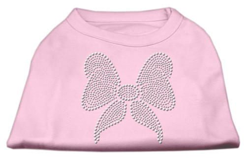 Rhinestone Bow Shirts Light Pink Xxl (18)
