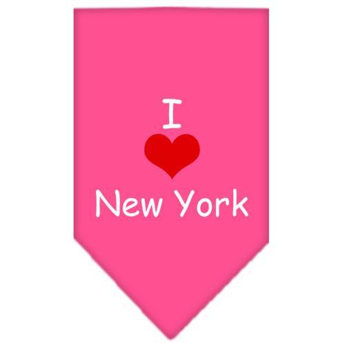I Heart New York  Screen Print Bandana Bright Pink Small