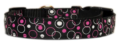 Retro Nylon Ribbon Collar Black Sm - 125-003 SMBK