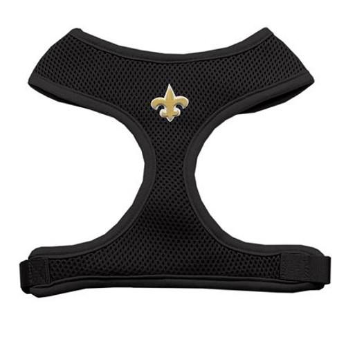 Gold Fleur De Lis Chipper Black Harness Large