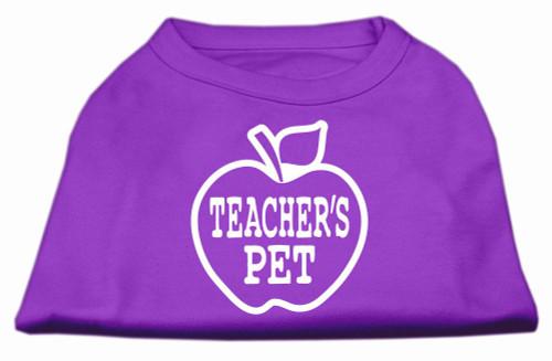 Teachers Pet Screen Print Shirt Purple Xs (8)