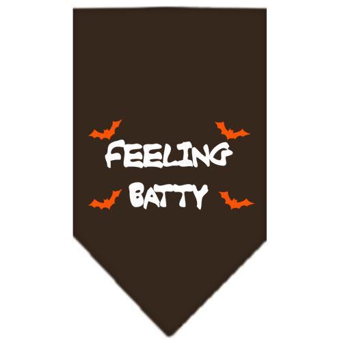 Feeling Batty Screen Print Bandana Cocoa Large