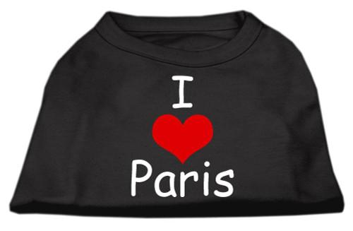I Love Paris Screen Print Shirts Black  Med (12) - 51-37 MDBK