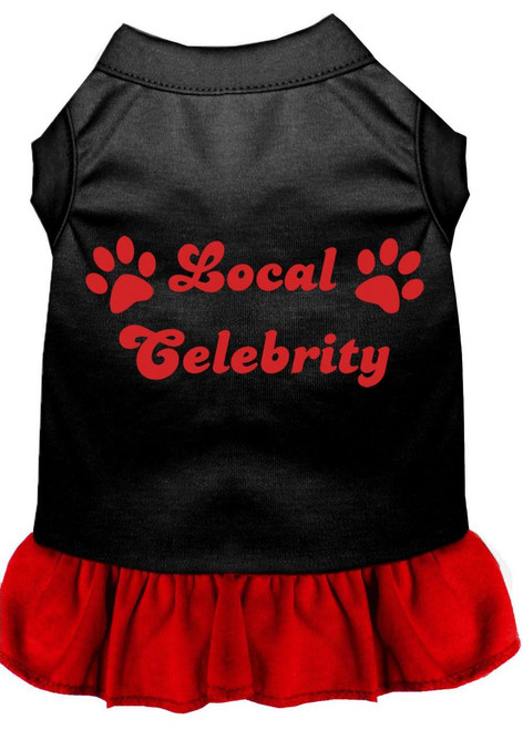 Local Celebrity Screen Print Dress Black With Red Lg (14)