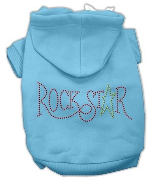 Rock Star Rhinestone Hoodies Baby Blue L (14)