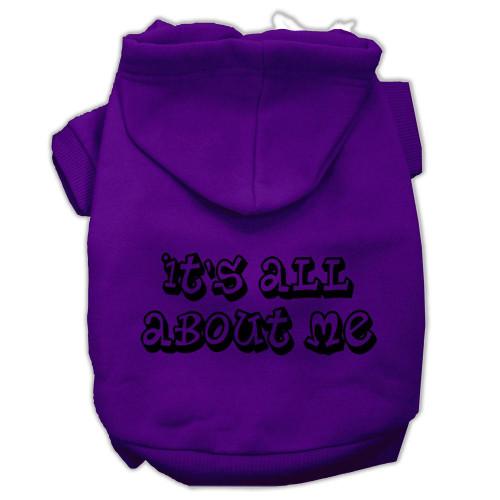 It's All About Me Screen Print Pet Hoodies Purple Size Xl (16)