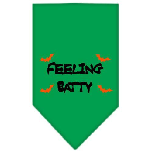Feeling Batty Screen Print Bandana Emerald Green Large