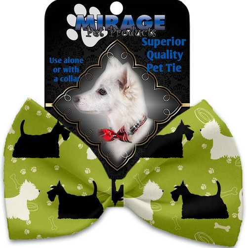 Scottie And Westie Pet Bow Tie