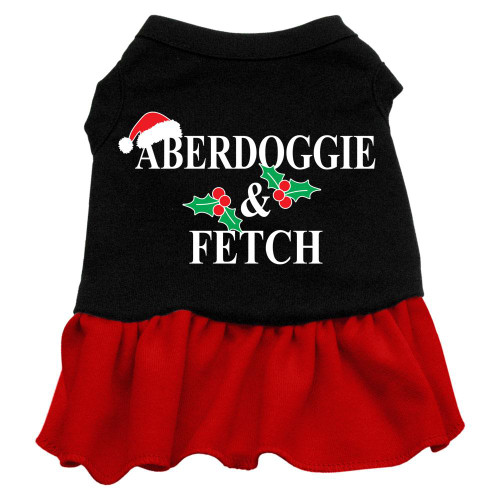 Aberdoggie Christmas Screen Print Dress Black With Red Xxxl (20)