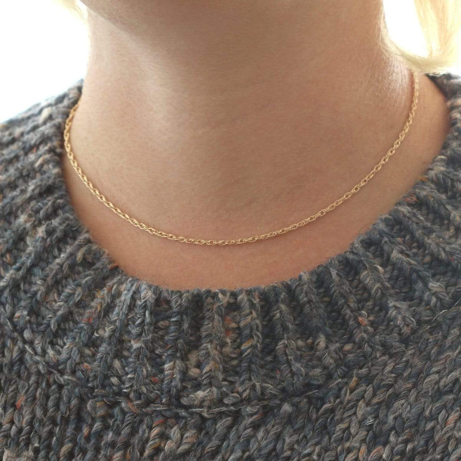 Rope Chain Short Necklace