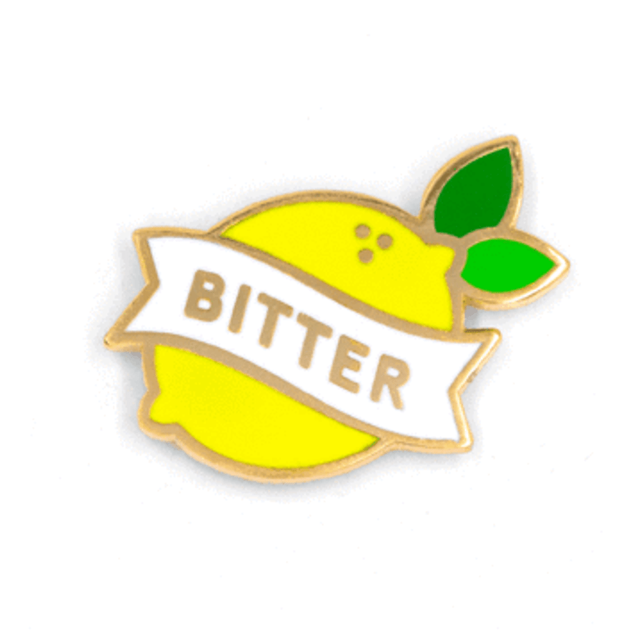 These Are Things Enamel Pin - Bitter