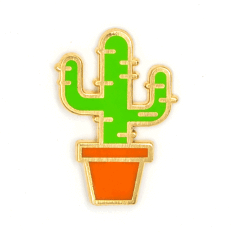 These Are Things Enamel Pin - Cactus