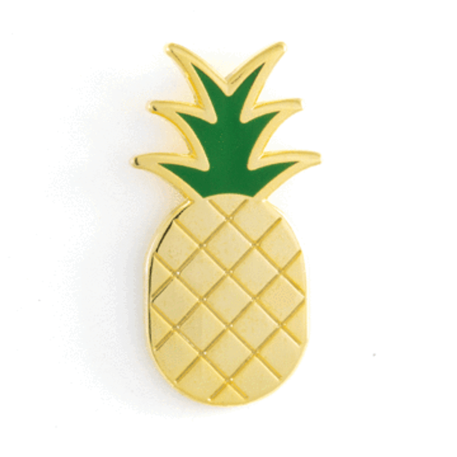 These Are Things Enamel Pin - Pineapple