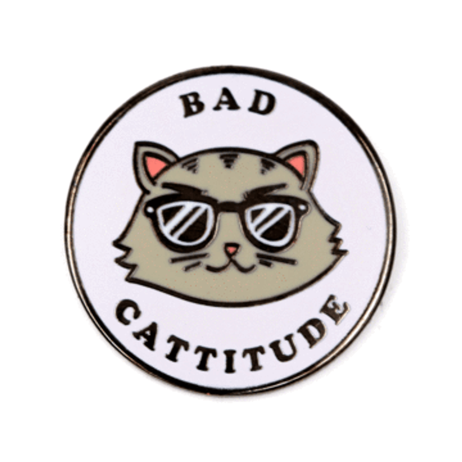 These Are Things Enamel Pin - Bad Cattitude