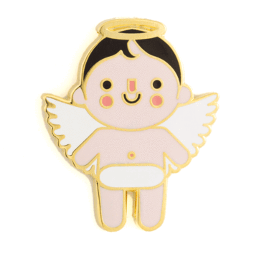 These Are Things Enamel Pin - Angel Baby