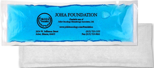 """4.5"""" x 12"""" Custom Imprinted, """"Cloth-Backed"""", """"Stay-Soft"""" Cold/Hot Gel Packs.  30 per case. Sold by the case."""