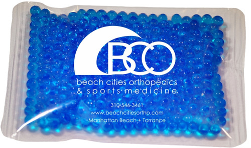 """4.5"""" x 6"""" Custom Imprinted, """"Gel Beads"""" Cold/Hot Therapy Pack. 75 per case. Sold by the case."""