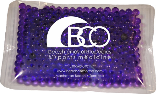 "4.5"" x 6"" Custom Imprinted, ""Gel Beads"" Cold/Hot Therapy Pack. 75 per case. Sold by the case."