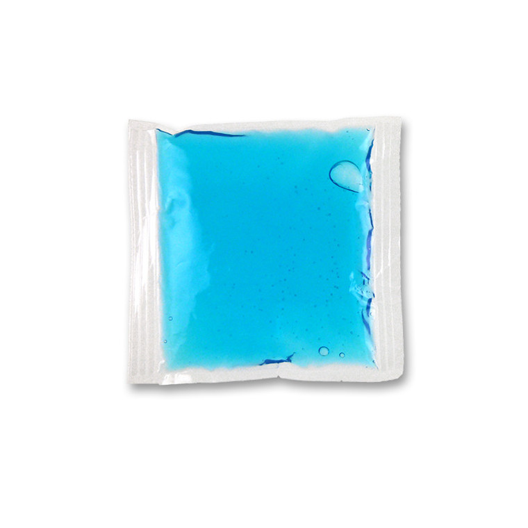 """4.5"""" x 4.5""""  blue cold gel pack compress. Mainly for cold therapy."""