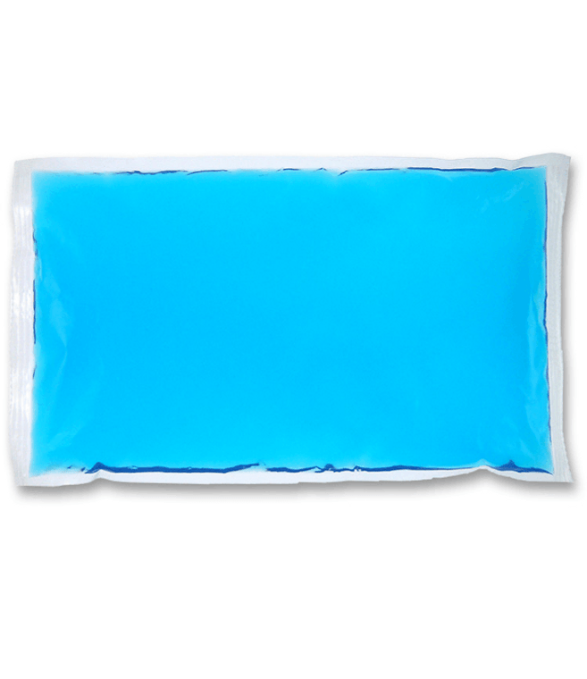 "6"" x 10""  blue cold gel pack compress. Mainly for cold therapy."
