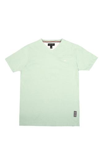 Men/'s A Tiziano White Ronald V-Neck T-Shirt