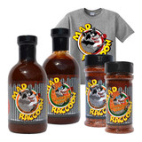 Mad Raccoon Gift Pack (2-Sauce, 2-Rub + T-Shirt)