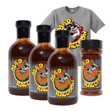 Mad Raccoon Smokin Hawt Gift Pack (3-Sauce, 1-Rub + T-Shirt)