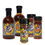 Try them all or just stock your cabinet! Our Mad Raccoon Barbecue Sauce Combo contains both our award winning sauces and all 3 of our rub styles.      Gluten Free     No MSG     Contains no raccoons or raccoon parts     No raccoons were harmed in the production of this sauce     Quality Guaranteed     Made in USA
