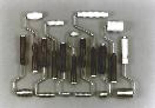 "1""x 3""x 15deg Aluminum Fiberglass Radius Roller"