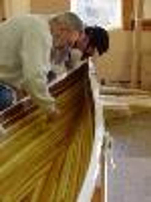Cedar Strip how to apply the Epoxy & Fiberglass. Run time 78 mins.