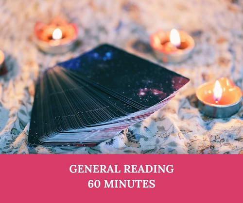 General Psychic Reading - 60 minutes by Zoom or telephone. A detailed reading covering any or all areas of your life.