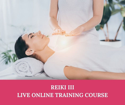 Reiki 3 Master Teacher training course held LIVE online  - suitable for students worldwide! Learn to a professional standard - one on one tuition - via Zoom with experienced Reiki Master Teacher.