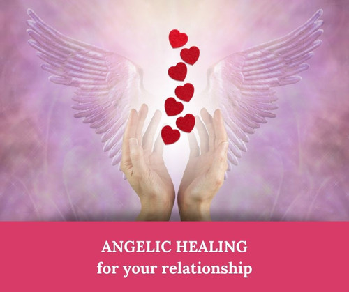 Angelic Healing Session for Love or Platonic Relationships - carried out from a distance - available worldwide!  Spiritual healing from the angelic realms for any issue, for spiritual growth & energetic cleansing.