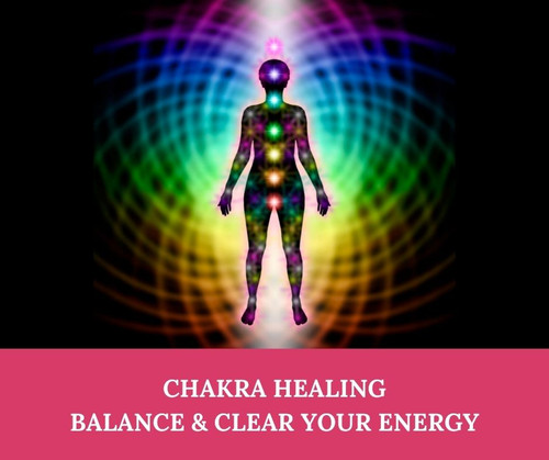 Chakra Healing Session - carried out from a distance, available worldwide! Energy healing session to clear, cleanse, and balance your chakras and energy body.  Ideal for energy blockages, to revitalise your energy system and bring balance and harmony to your life.