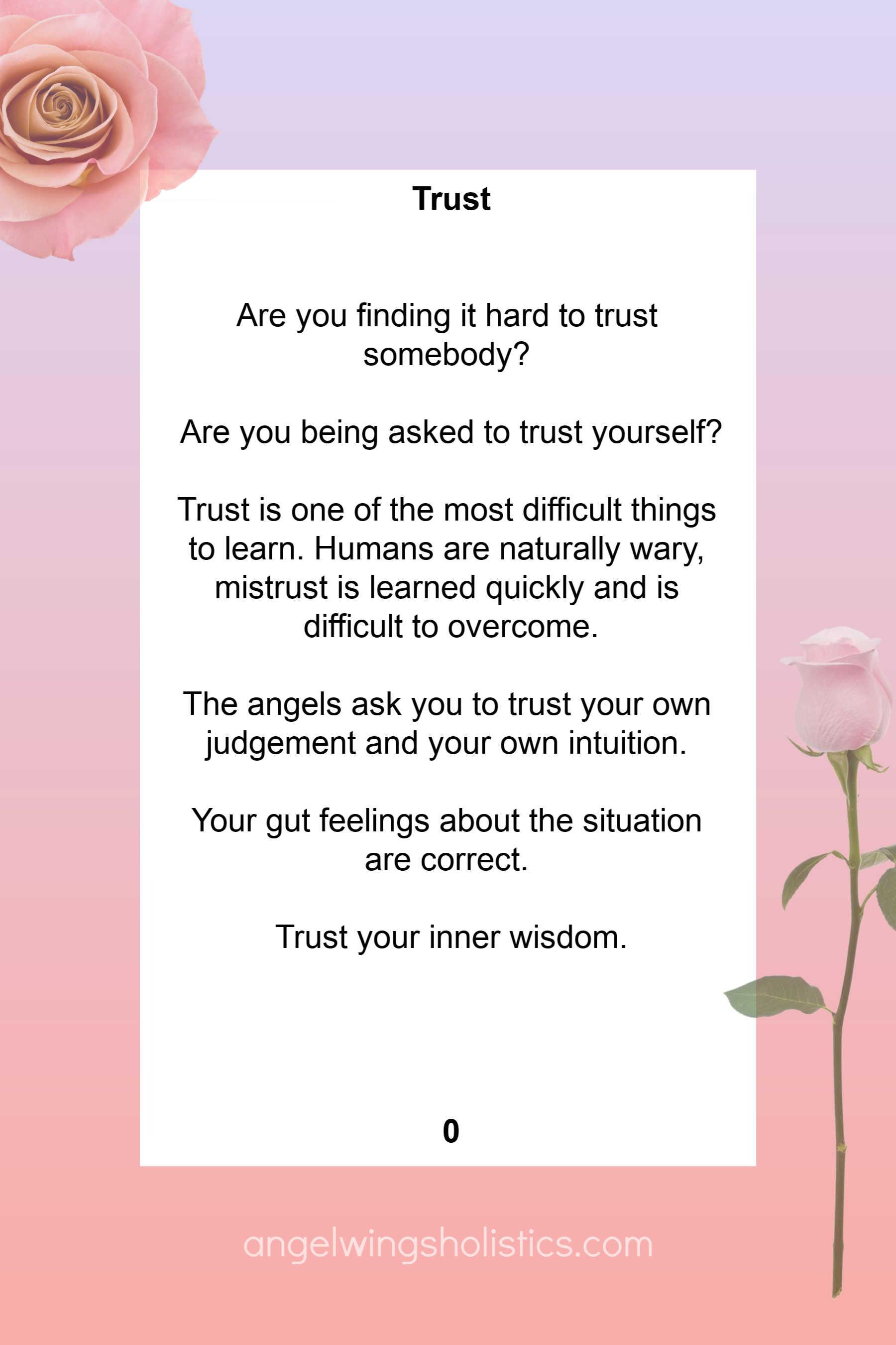 Card Number 0 - Trust