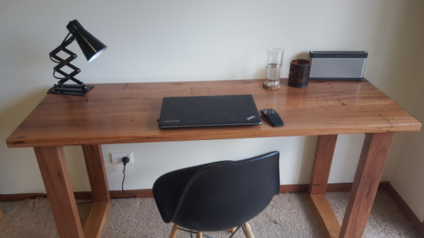 Reclaimed timber study desk
