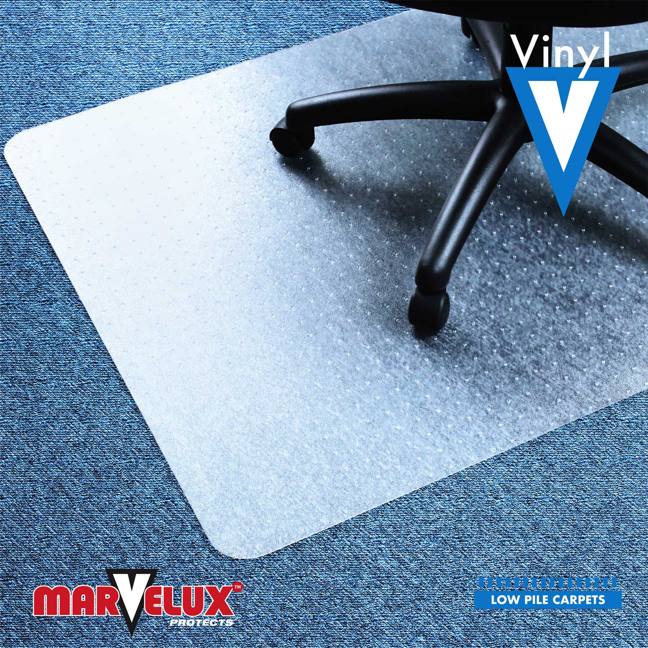 Picture of: Marvelux Pvc Vinyl Chair Mat For Very Low Pile Carpets And Carpet Tiles Rectangular Carpet Protector