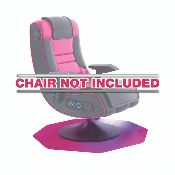 Pink Gaming Chair Mat Carpet Protector