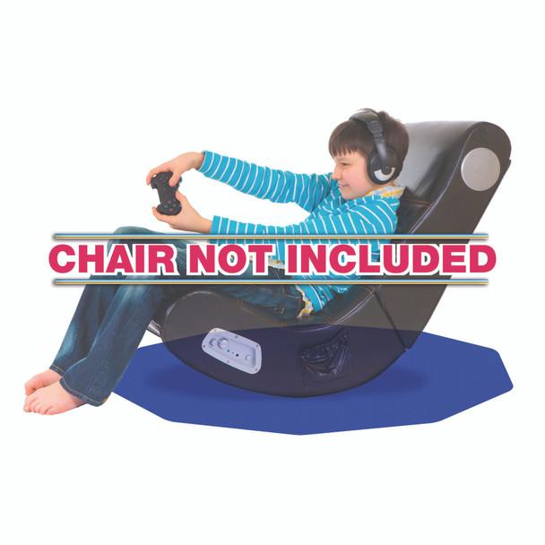 Blue Gaming Chair Mat for Hard Floors