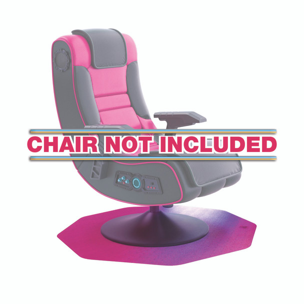 Pink Under Gaming Chair Mat for Hard Floors