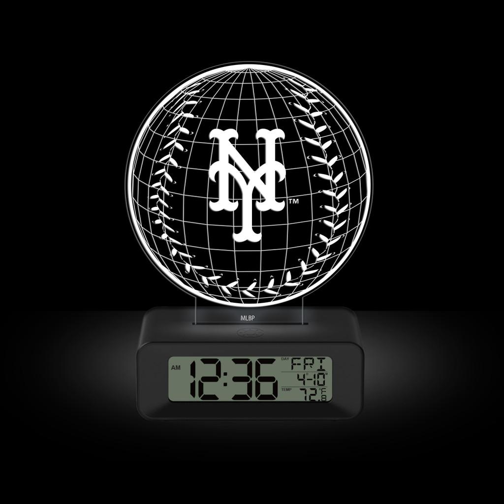 LED DESK CLOCK NEW YORK METS