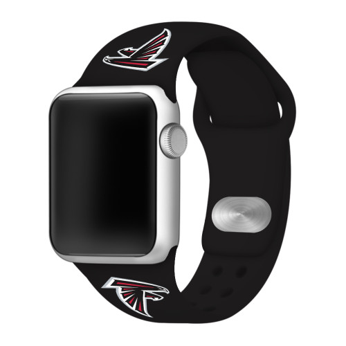 NFL Atlanta Falcons Black Silicone Band 38/40mm for Apple Watch