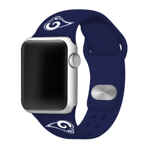 NFL Los Angeles Rams Navy Blue Silicone Band 38/40mm for Apple Watch