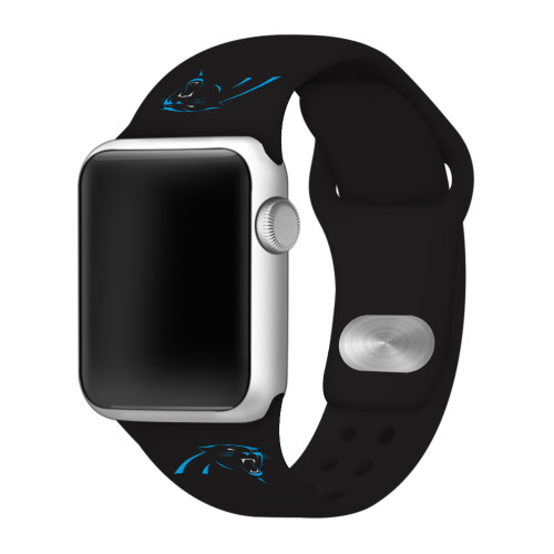 NFL Carolina Panthers Black Silicone Band 42/44mm for Apple Watch