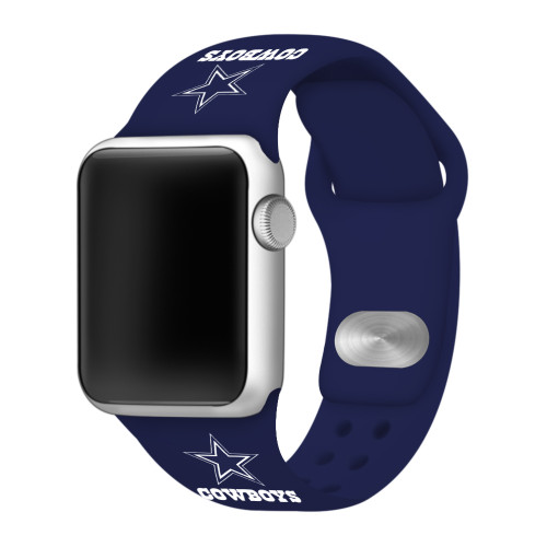 NFL Dallas Cowboys Navy Blue Silicone Band 42/44mm for Apple Watch